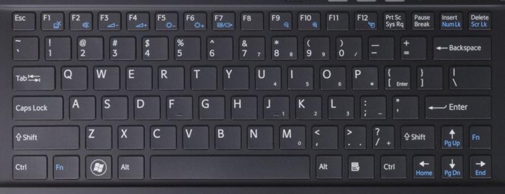 Laptop keyboard from Sony