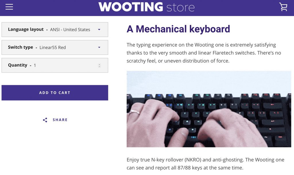 Wooting store